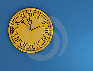 3d Antique Old Clock Stock Photography - Image: 18407272