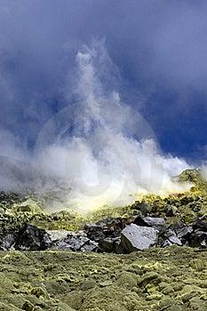Galapagos Sulfur Volcano Stock Photography - Image: 18407472