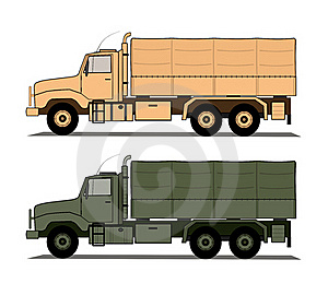 Army Trucks  Stock Photo - Image: 18408200