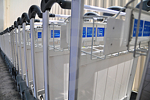 Airport Trolley Stock Image - Image: 18412881