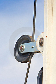 Block Wheel Of Auger Over Sky Royalty Free Stock Image - Image: 18415136