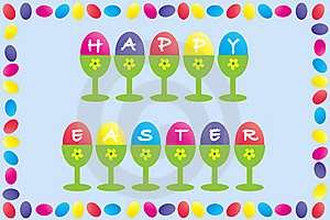 Happy Easter Frame Design Royalty Free Stock Images - Image: 18415609