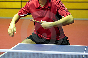 Close Up Of A Table Tennis Player Stock Photography - Image: 18415872