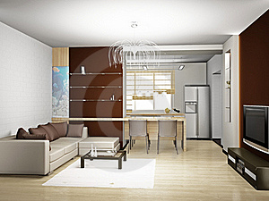 Living Room 3D Stock Photography - Image: 18416232