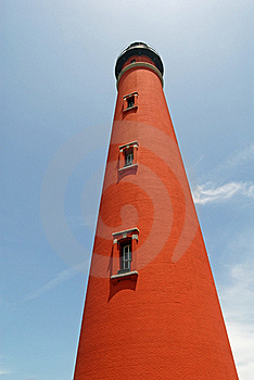 Red Brick Lighthouse Royalty Free Stock Image - Image: 18416336