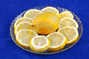 Lemon With Slices Royalty Free Stock Photography - Image: 18417027