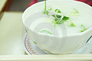 Rice Porridge, Jook In White Bowl Stock Photography - Image: 18418802
