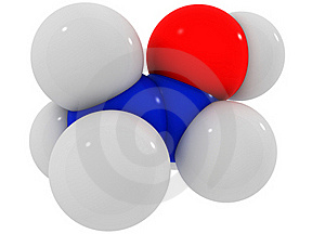 Molecule Of Ethyl Alcohol From The White Blue №2 Royalty Free Stock Image - Image: 18419246