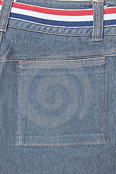 Back Pocket Of Jeans Royalty Free Stock Photography - Image: 18420527