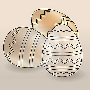 Set Of Different Easter Eggs Stock Photos - Image: 18421393