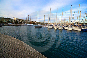 Port In Beautiful Barcelona, Spain Royalty Free Stock Photography - Image: 18423537