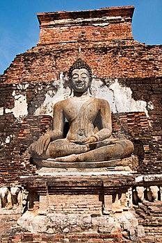 Wat Mahatat Sukhothai History Park In Thailand Royalty Free Stock Photography - Image: 18423797