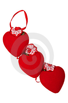 Two Decorative Heart Made Of Red Velvet Royalty Free Stock Photos - Image: 18425818