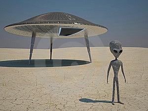 Humanoid Landing Stock Photo - Image: 18428740