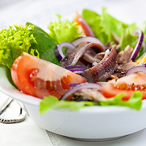 Vegetable Salad With Anchovy Royalty Free Stock Photography - Image: 18431707