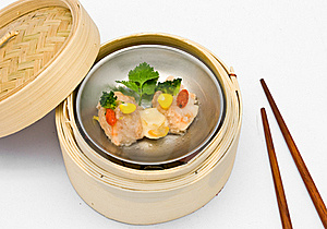 Chinese Steamed Dimsum Scallops Stock Photography - Image: 18435222