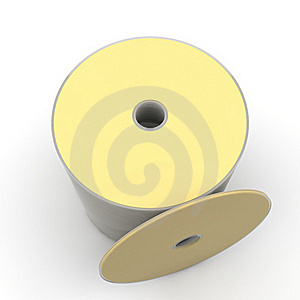 Pack Of Gold Dvd Or Cd Stock Image - Image: 18436751