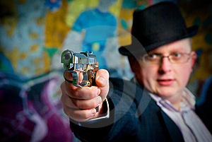 Man Aiming With Gun Royalty Free Stock Photos - Image: 18437548