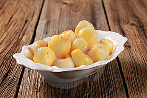 Pan-roasted Potatoes Royalty Free Stock Images - Image: 18437919