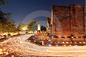 Buddhism Ceremony At Temple Ruin Royalty Free Stock Photos - Image: 18437998
