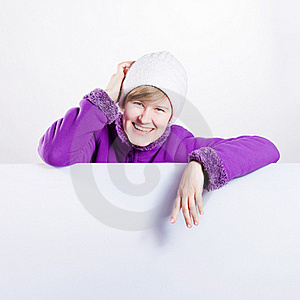 Young Woman In A Warm Cap And A Sweater Stock Photography - Image: 18438092