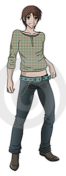 Anime Style Teen Male Model Stock Photo - Image: 18439130