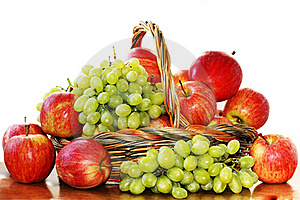 Red Apples And Grapes Stock Photography - Image: 18439552