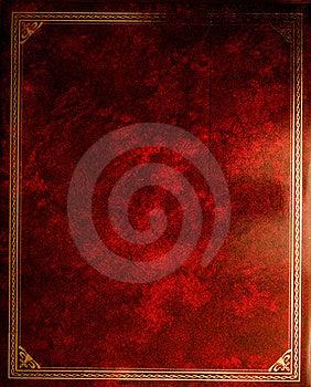 Fondo di rosso di lerciume Fotografia Stock