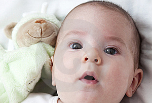 Closeup Portrait Of Adorable Baby Stock Images - Image: 18440984