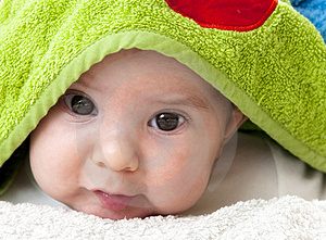 Closeup Portrait Of Adorable Baby Royalty Free Stock Images - Image: 18441029