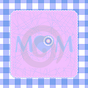 80s Style Mothers Day Card. EPS 8 Stock Photo - Image: 18441840