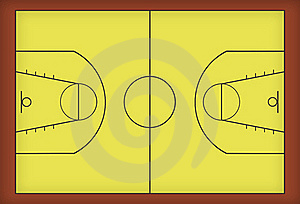 Basketball Court Royalty Free Stock Photo - Image: 18444205