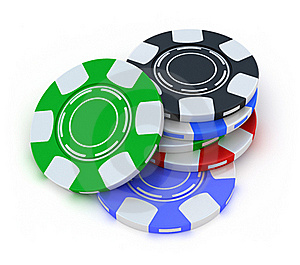 Poker Gambling Chips In Pile Top View Stock Photography - Image: 18448022