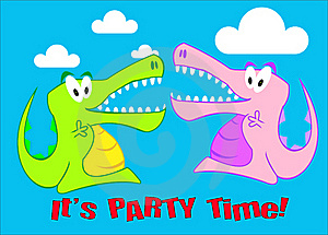 A Snappy Crocodile Party Illustration Stock Photo - Image: 18448110
