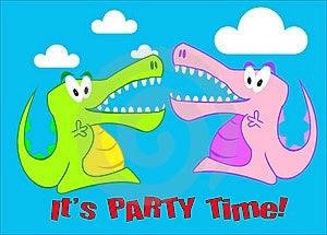A Snappy Crocodile Party Illustration Stock Photo - Image: 18448110