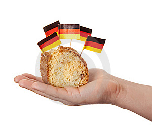Hand Keep Cake With Germany Flags. Stock Photos - Image: 18449503