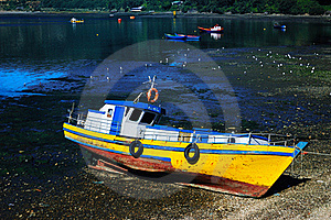 Fishing Boat In Chile Stock Photos - Image: 18450643