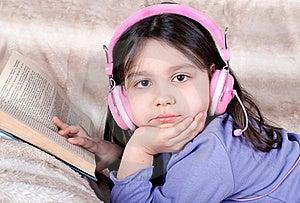 Little Girl Read A Book Royalty Free Stock Photos - Image: 18450808