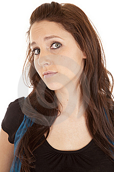 Brunette Expression Serious Royalty Free Stock Photos - Image: 18453128