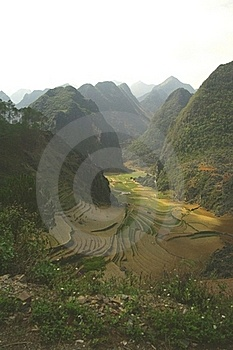 Step Fields In Karst Area Stock Image - Image: 18453431