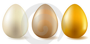 Three Realistic Eggs Royalty Free Stock Image - Image: 18453726