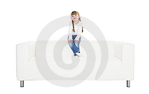 Young Girl In A Sofa Royalty Free Stock Photo - Image: 18454395