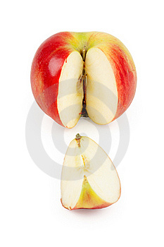 Cut A Slice Of Red Apple Stock Photo - Image: 18455420