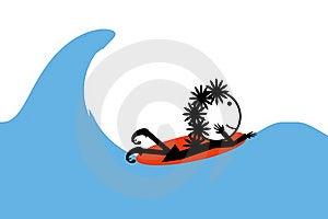 Mulheres Surfando Foto de Stock - Imagem: 18455520