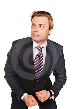 Frightened Young Businessman Royalty Free Stock Photography - Image: 18456007