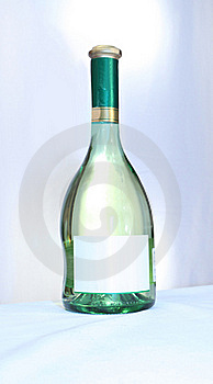 Wine With An Empty Label Stock Images - Image: 18457244