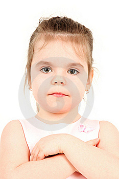 Little Girl In Pink Dress Stock Images - Image: 18458164