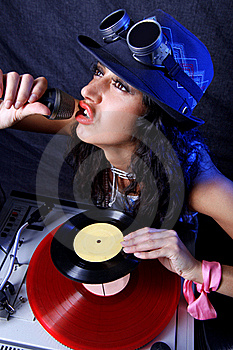 Cool DJ In Action Royalty Free Stock Photography - Image: 18459337