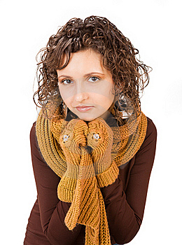 Beautiful Girl In Casual Winter Clothing Stock Photography - Image: 18459362