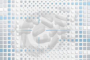 Pills Under Mosaic Layer Stock Photography - Image: 18468352